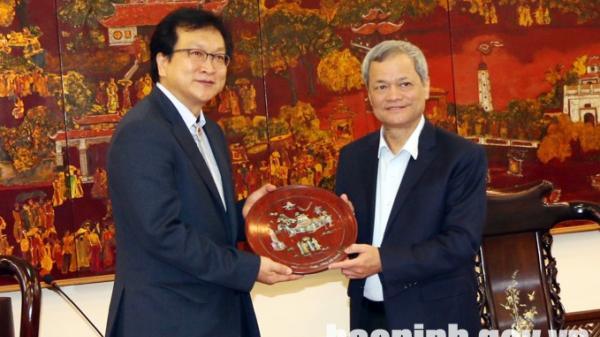 Chủ tịch UBND tỉnh tiếp Chủ tịch Bệnh viện Đại học Quốc gia Kyungpook Chilgok (Hàn Quốc)