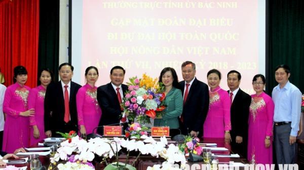 Gặp mặt Đoàn đại biểu đi dự Đại hội toàn quốc Hội Nông dân Việt Nam