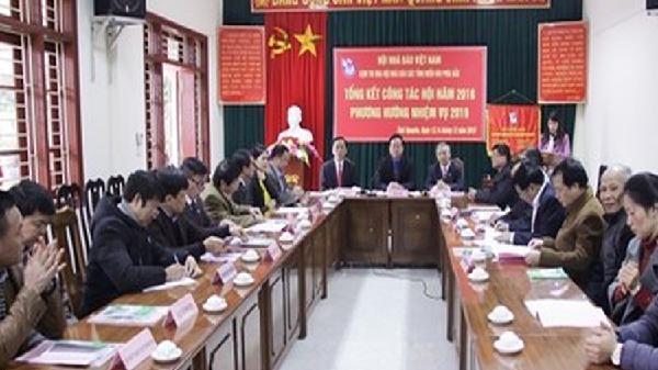 Tổng kết công tác thi đua Hội Nhà báo các tỉnh Miền núi phía Bắc năm 2018