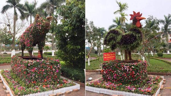 Bắc Ninh: Mãn nhãn ngắm 12 CON GIÁP 'KHỦNG 'được tạo hình từ cây xanh