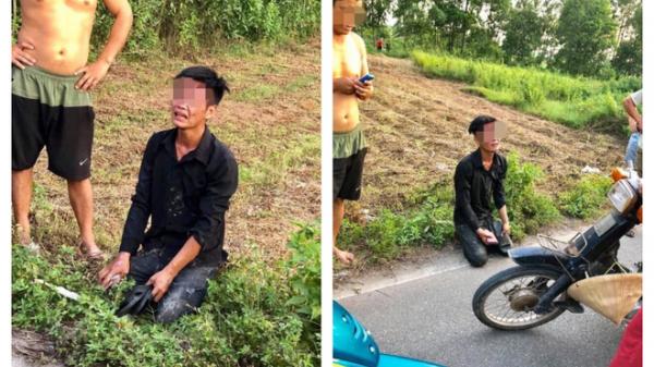 Trộm xe máy bị người dân bắt được, nam thanh niên quỳ gối, khóc lóc xin tha