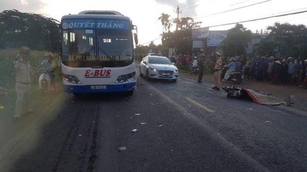 Đắk Lắk: Tài xế xe máy tử vong sau cú va chạm với xe buýt