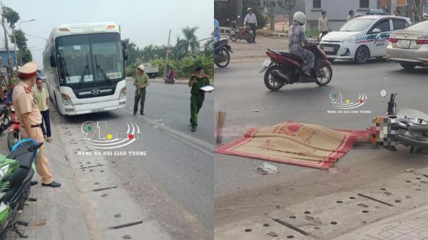 VỪA XONG: Va chạm với xe chở công nhân của Samsung, người đàn ông chết thảm