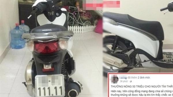 Bắc Ninh: Bị mất xe SH, chủ xe treo thưởng 50 triệu cho ai tìm được