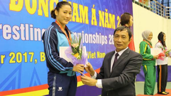 VĐV Bắc Ninh giành 5 huy chương tại giải Vô địch vật Đông Nam Á năm 2017