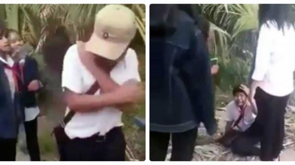 Nam sinh bị nhóm nữ sinh đánh hội đồng dã man, dọa giết