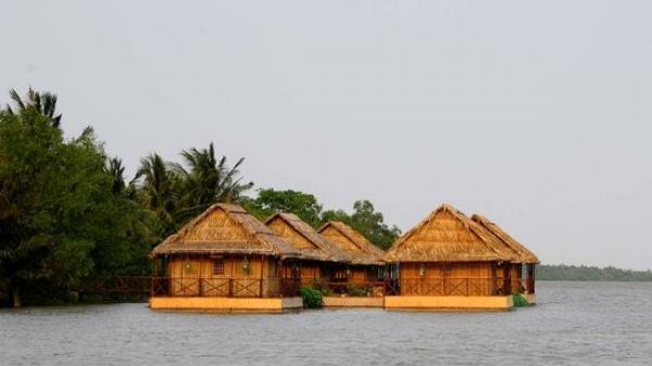 'Khách sạn trên sông' độc đáo trong khu rừng dừa dưới chân đảo Rùa ở Bến Tre