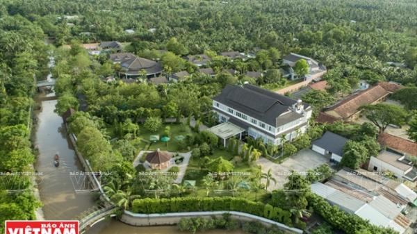 """""""Hòn ngọc xanh"""" bên dòng sông Tiền của xứ dừa Bến Tre khiến ai cũng tò mò muốn tới một lần"""