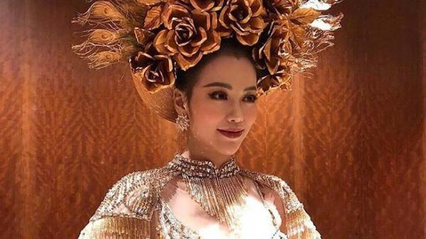 Cận cảnh bộ trang phục truyền thống thắng giải tại Miss Earth của cô gái Bến Tre