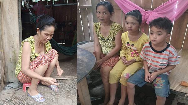 Xót xa trước hoàn cảnh của người phụ nữ Bến Tre: Đã ốm đau bệnh tật lại phải đèo bòng 2 cháu nhỏ
