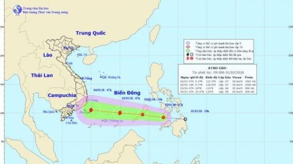 Biển Đông sắp hứng bão mạnh cấp 8 đầu tiên trong năm