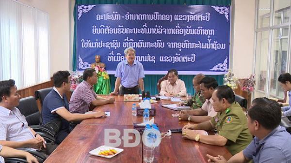 Bình Định hỗ trợ 500 triệu đồng cho nhân dân tỉnh Attapư
