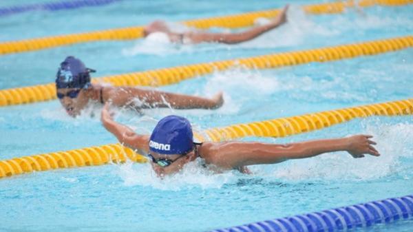 Giải vô địch bơi, lặn các CLB quốc gia: VĐV bơi lội Bình Định Trương Ngọc Tổng đoạt HCV 100m ngửa