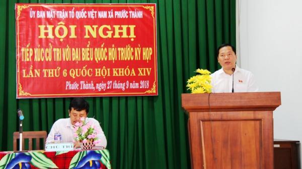 ĐBQH Nguyễn Phi Long tiếp xúc cử tri tại xã Phước Thành, huyện Tuy Phước
