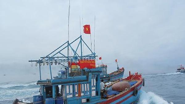 Đề nghị cho 3 tàu cá vào đảo Hải Nam trú tránh nguy hiểm