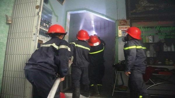 TP Quy Nhơn: Cháy lớn tại tiệm trang điểm