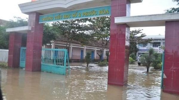 Bình Định: Học sinh toàn tỉnh tiếp tục nghỉ học trong ngày 6/11