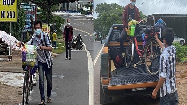 Hai anh em đi bộ từ Bình Dương về Đắk Lắk, dọc đường được tặng xe máy