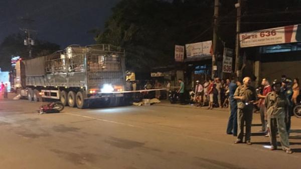 Bình Dương: Xe máy tông xe container, người đàn ông tử vong tại chỗ