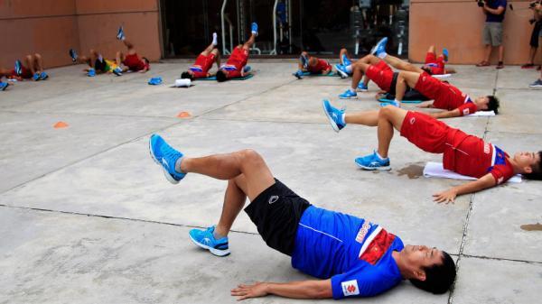 Rèn thể lực, BHL U22 Việt Nam sẵn sàng chiến SEA Games 29