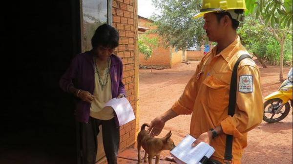 Bình Phước: Lộ trình chấm dứt hình thức thu tiền điện tại nhà