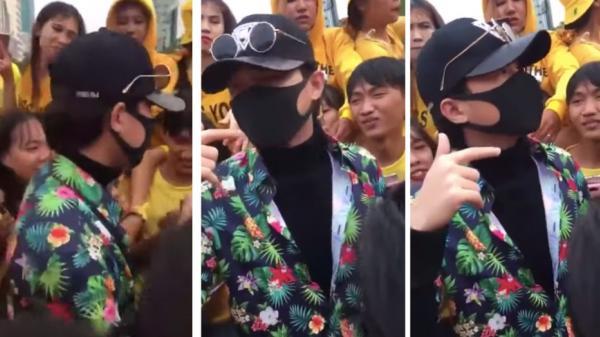 Jack bịt kín mặt trong lần đầu xuất hiện trước các fan hâm mộ