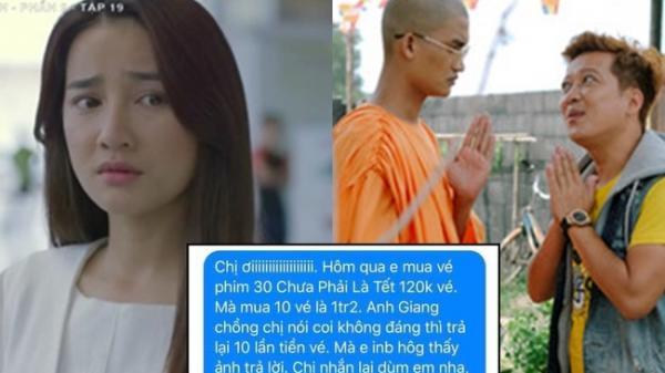 Nhắn tin đòi Nhã Phương hoàn tiền vé phim 30 Chưa Phải Tết, khán giả nhận no gạch vì kém duyên