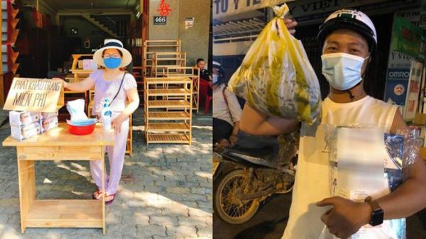 Người dân Đà Nẵng đặt điểm phát khẩu trang miễn phí, suất ăn đêm