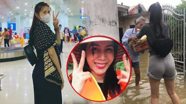 """Nữ MC soi mói Thủy Tiên mặc đồ hiệu đi cứu trợ, bị dân mạng """"ném đá"""" tới khóa cả facebook"""