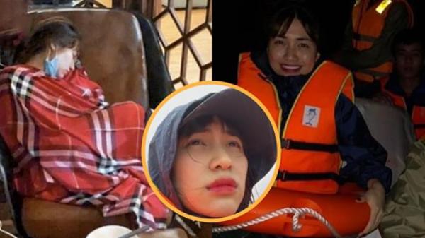 Xúc động khoảnh khắc Hòa Minzy nằm gục kiệt sức sau 2 đêm thức trắng cứu trợ miền Trung