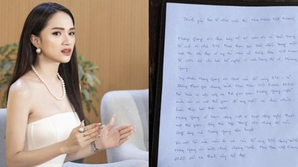 Hương Giang viết thư tay xin lỗi, chính thức rút khỏi chương trình Hoa hậu Việt Nam 2020 sau khi bị antifan đòi tẩy chay