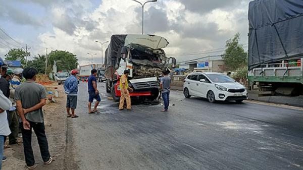 Bình Thuận: Xe container rời khỏi hiện trường sau va chạm chết người
