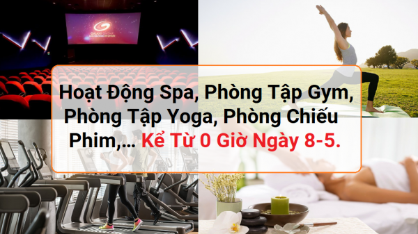 Bình Thuận dừng spa, yoga, gym, chiếu phim từ 0g ngày 8-5