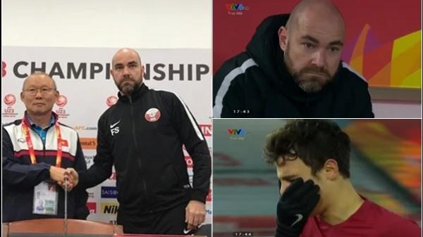 """HLV Qatar khóc đỏ mắt, bắt tay HLV Park nhận xét 1 câu quá sốc về U23 VN: """"Các bạn quá mạnh!"""