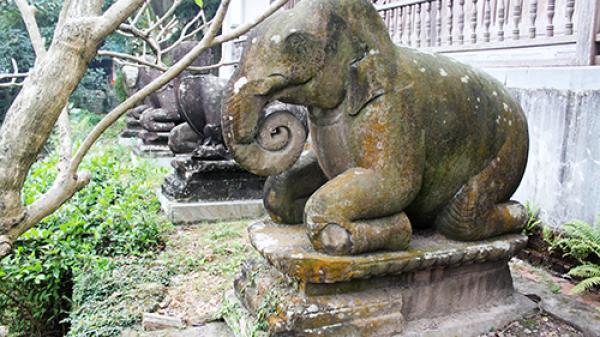 10 linh thú quỳ chầu ở chùa Phật Tích