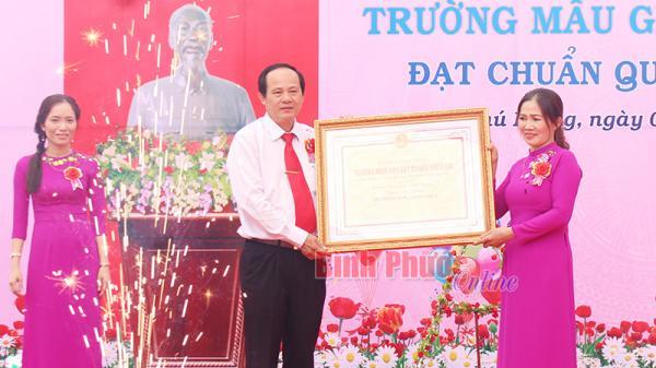 Bình Phước: Trường mẫu giáo Phú Riềng A đạt chuẩn quốc gia mức độ 1