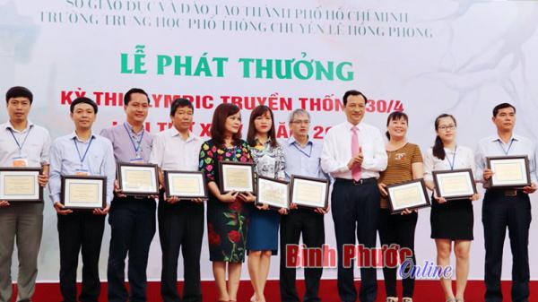 THPT chuyên Bình Long và Quang Trung xếp nhì, ba toàn đoàn cuộc thi Olympic 30-4