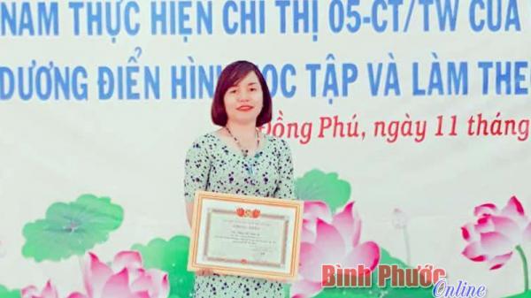 """Bình Phước: Cô Đặng Thị Nhật Lệ góp sức cho sự nghiệp """"trồng người"""""""
