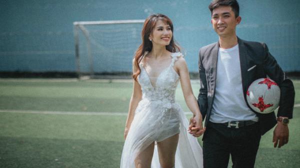 Bình Phước: Ảnh cưới mùa World Cup của cặp fan túc cầu