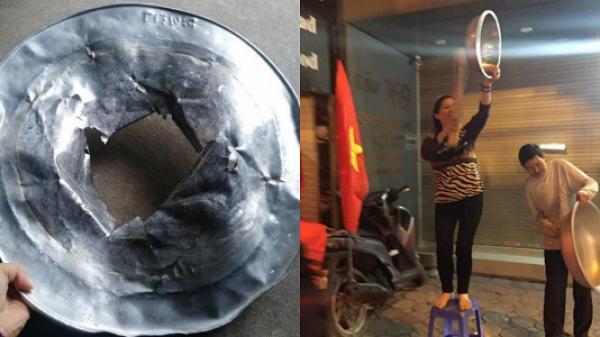 """Tuyển tập số phận của xoong nồi, mâm cơm sau khi cùng chủ đi """"bão"""" mừng Việt Nam vô địch AFF Cup 2018"""