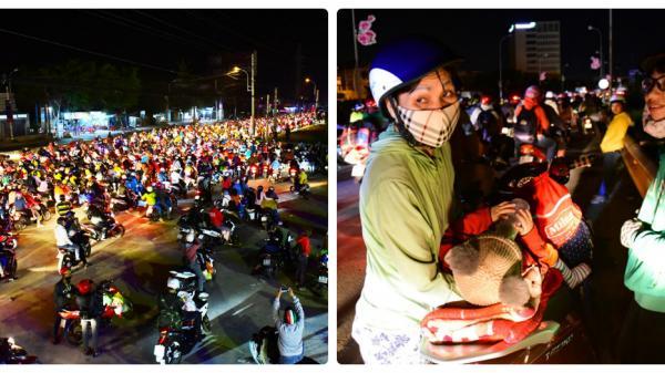 Người miền Tây vạ vật ở Bến Lức cả ngày đêm để trở lại Sài Gòn