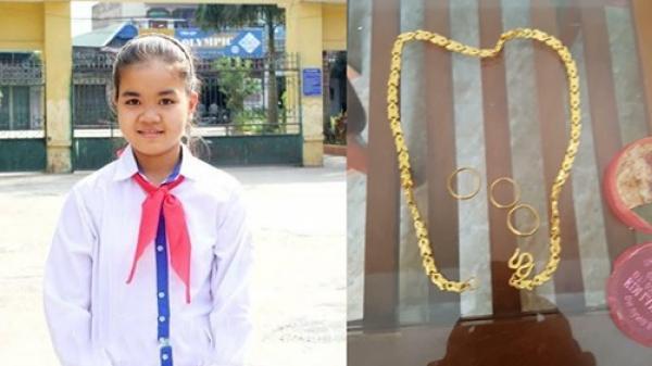 Nhặt được gần 1 cây vàng trị giá 35 triệu đồng, nữ sinh lớp 6 ở Hưng Yên trả lại người mất