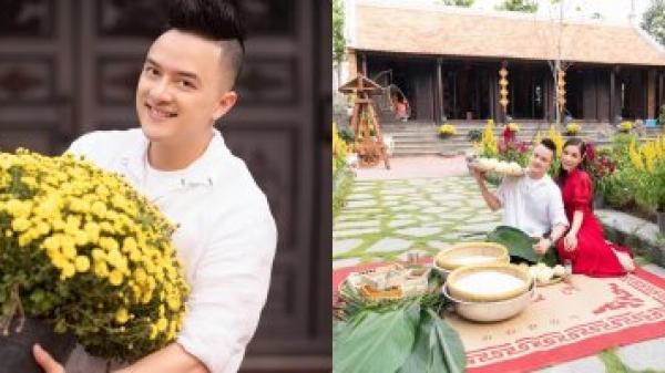 Cao Thái Sơn trang trí, gói bánh chưng tại biệt thự sân vườn ở Long An