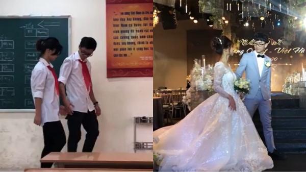 Chuyện tình 12 năm của cặp đôi 9X nắm tay nhau từ lớp học đến lễ đường: 'Can đảm yêu, cam đảm chờ'