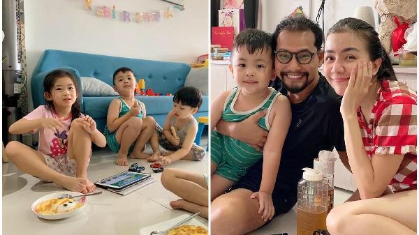 Vợ chồng Huỳnh Đông tổ chức sinh nhật, dân tình bất ngờ vì có sự góp mặt của bé Lavie