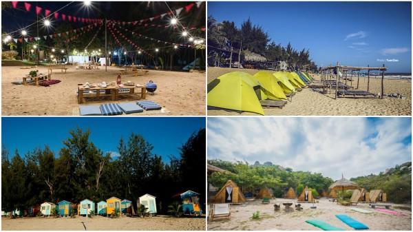 Các khu cắm trại ven biển lý tưởng cho dịp Tết Dương lịch