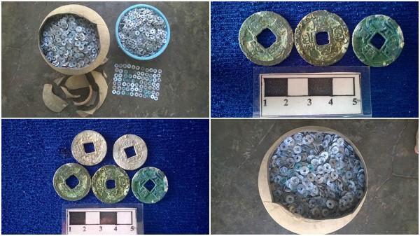 Bình Thuận: Làm vườn, phát hiện hũ tiền xu cổ