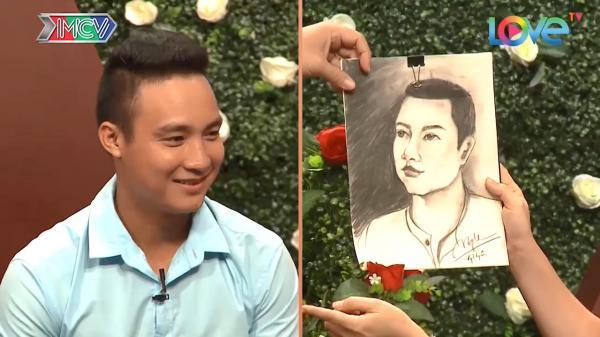 Cô gái Bình Thuận vẽ chân dung chàng trai trong mộng khiến MC giật mình