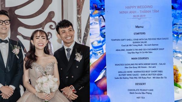 Hé lộ thực đơn trong bữa tiệc cưới gần 20 tỷ của con gái đại gia Minh Nhựa, toàn sơn hào hải vị nhưng số lượng món ăn mới gây bất ngờ