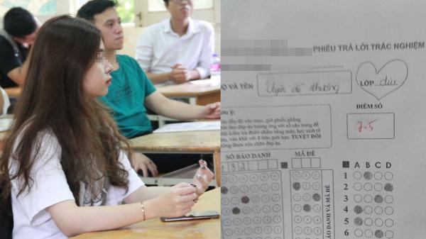 Thả thính thầy giáo trong bài kiểm tra, nữ ѕinh bị trừ luôn 5 điểm